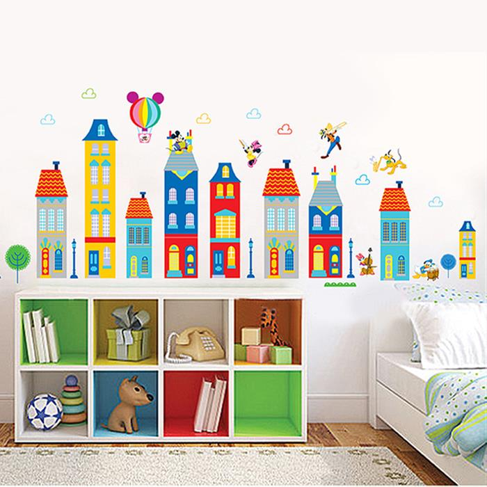 Removable Wall/Glass Sticker Bedroom Nursery (Cartoon Building)