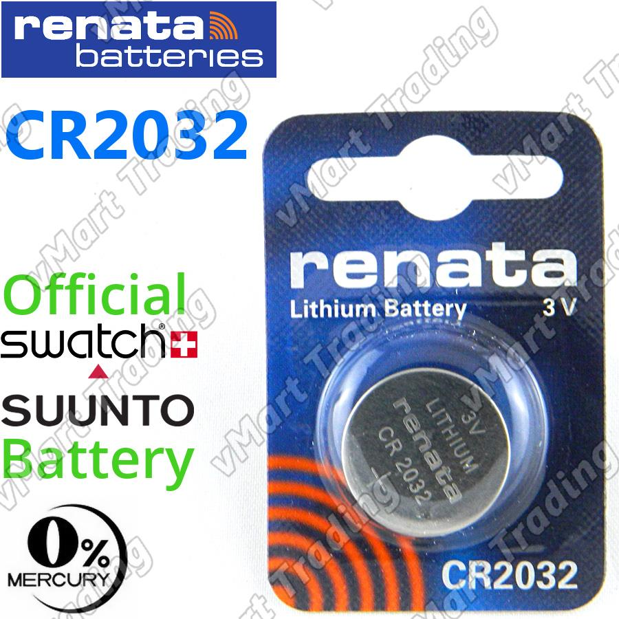 RENATA CR2032 3V Lithium Cell Battery