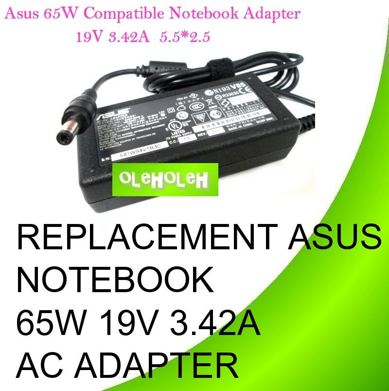 Replacement Asus Notebook 65W 19V 3.42A AC Adapter