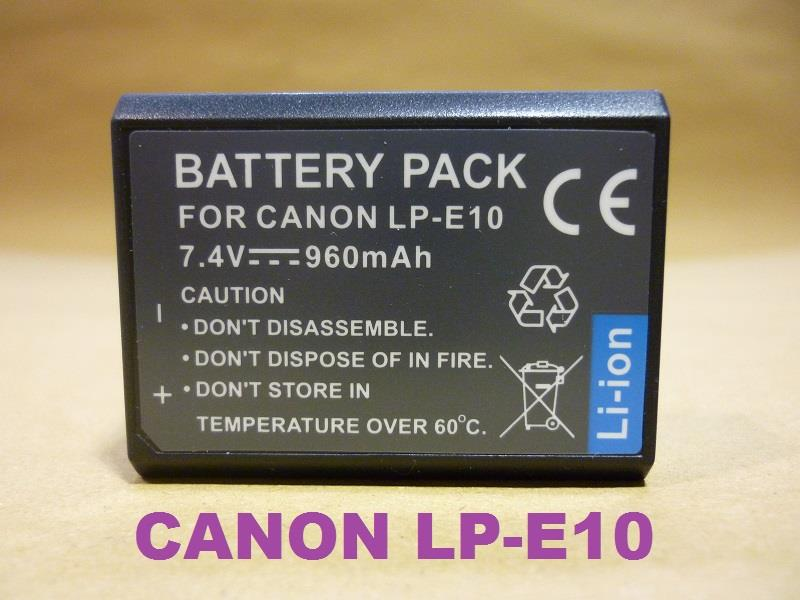 Replacement Battery for Canon LP-E10