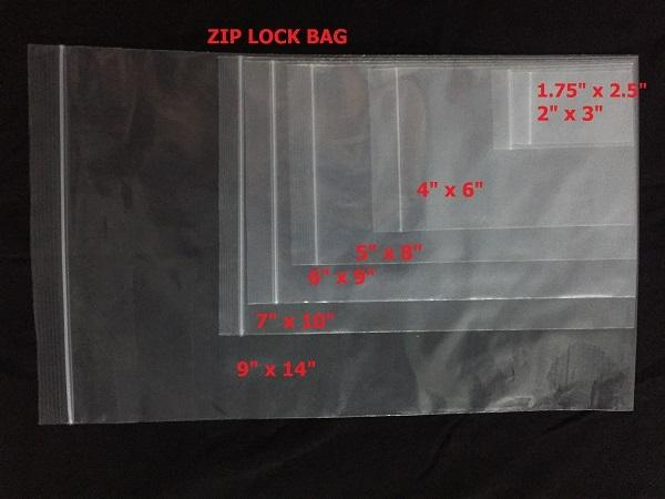 RESEALABLE ZIP LOCK BAG 7'' X 10'' X100PCS