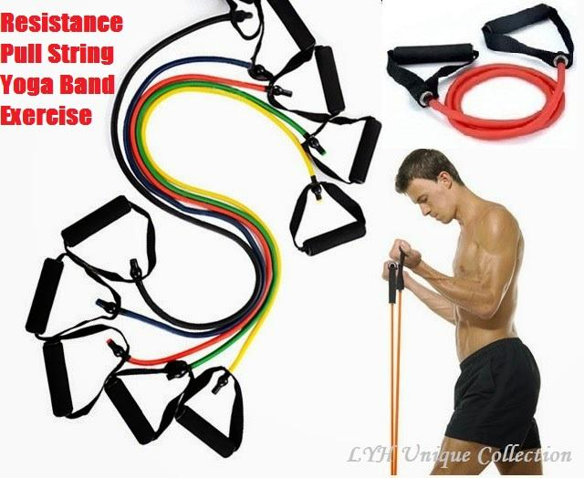 Resistance Pull String Yoga Band Exercise strengthen back muscles