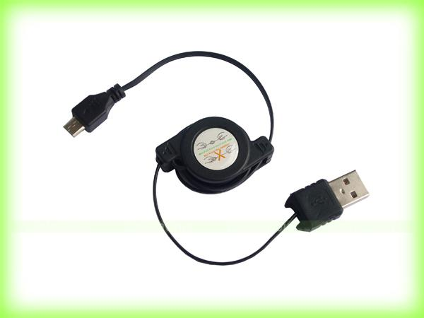 RETRACTABLE USB cable Samsung Galaxy S2 S3 Note 2 Advance Nexus W Y