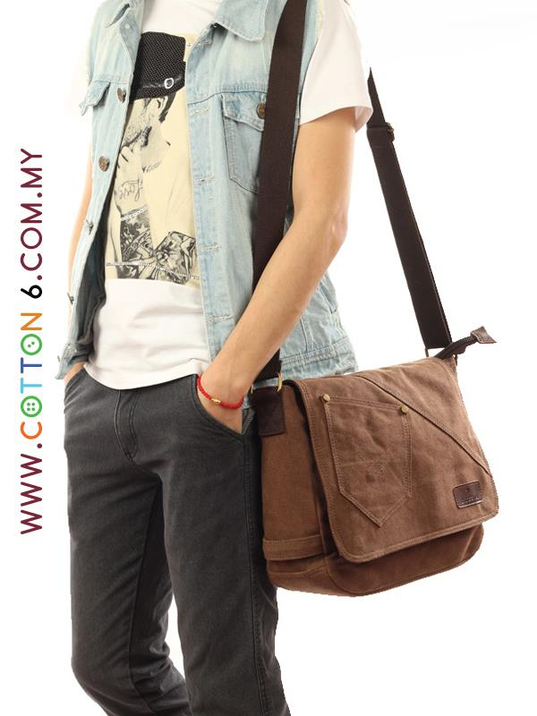 Retro Canvas Sling Messenger Bag