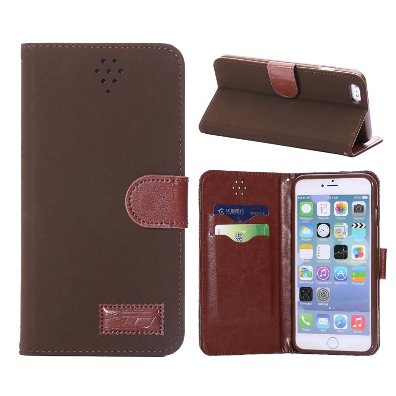 Retro Magnetic Flip Leather iPhone 6 Plus Case with Card Slot