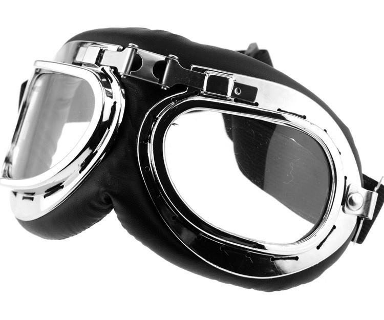 Retro Pilot Aviator Flying Goggles - Vintage Motorcycle Racer