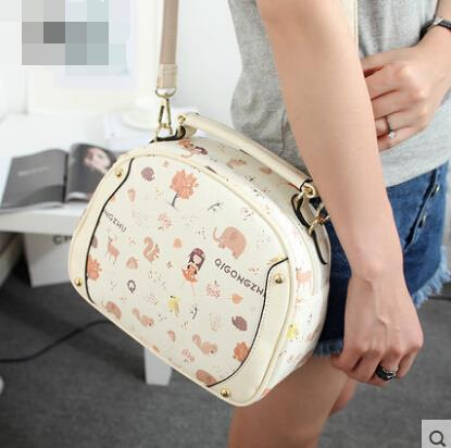 Retro print handbag handbag lovely cute messenger bag