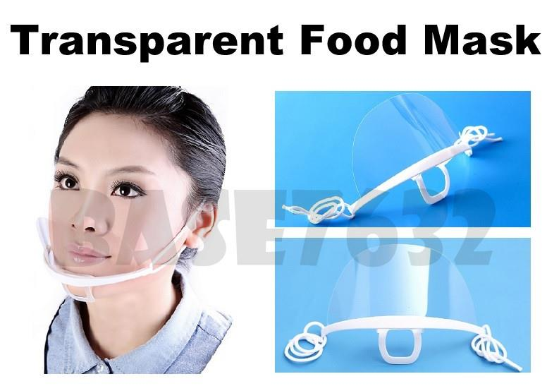 Reusable  Transparent Sanitary Anti Fog Anti Saliva Food Hygiene Mask