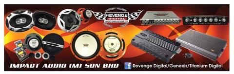 Revenge Digital 4 band car per amp