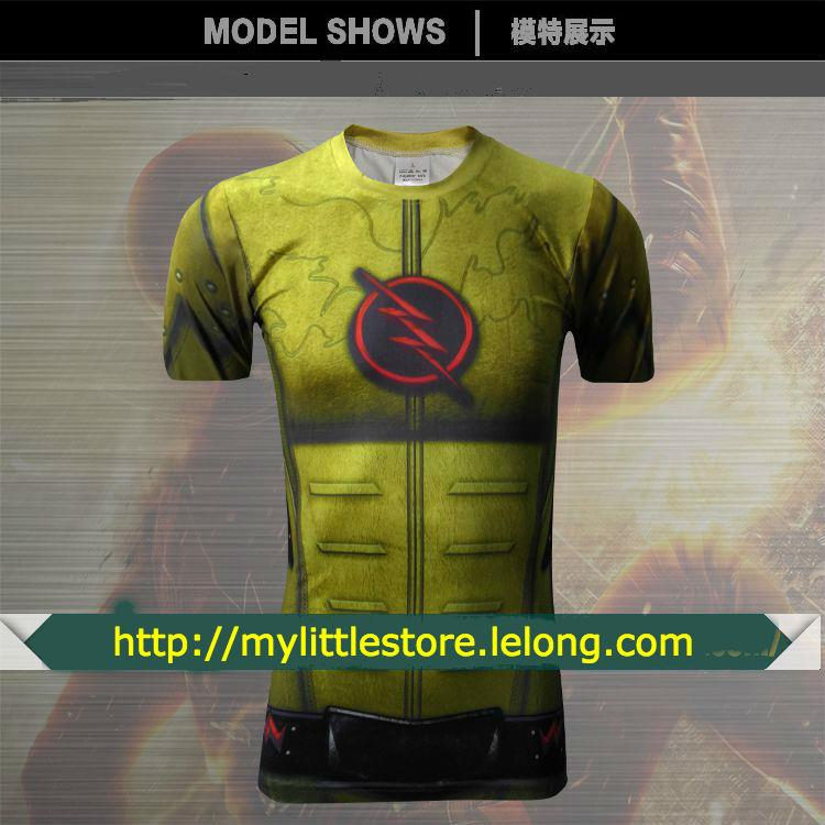 Reverse Flash - Short Sleeve Tight/Body Hugging T shirt (SS093)