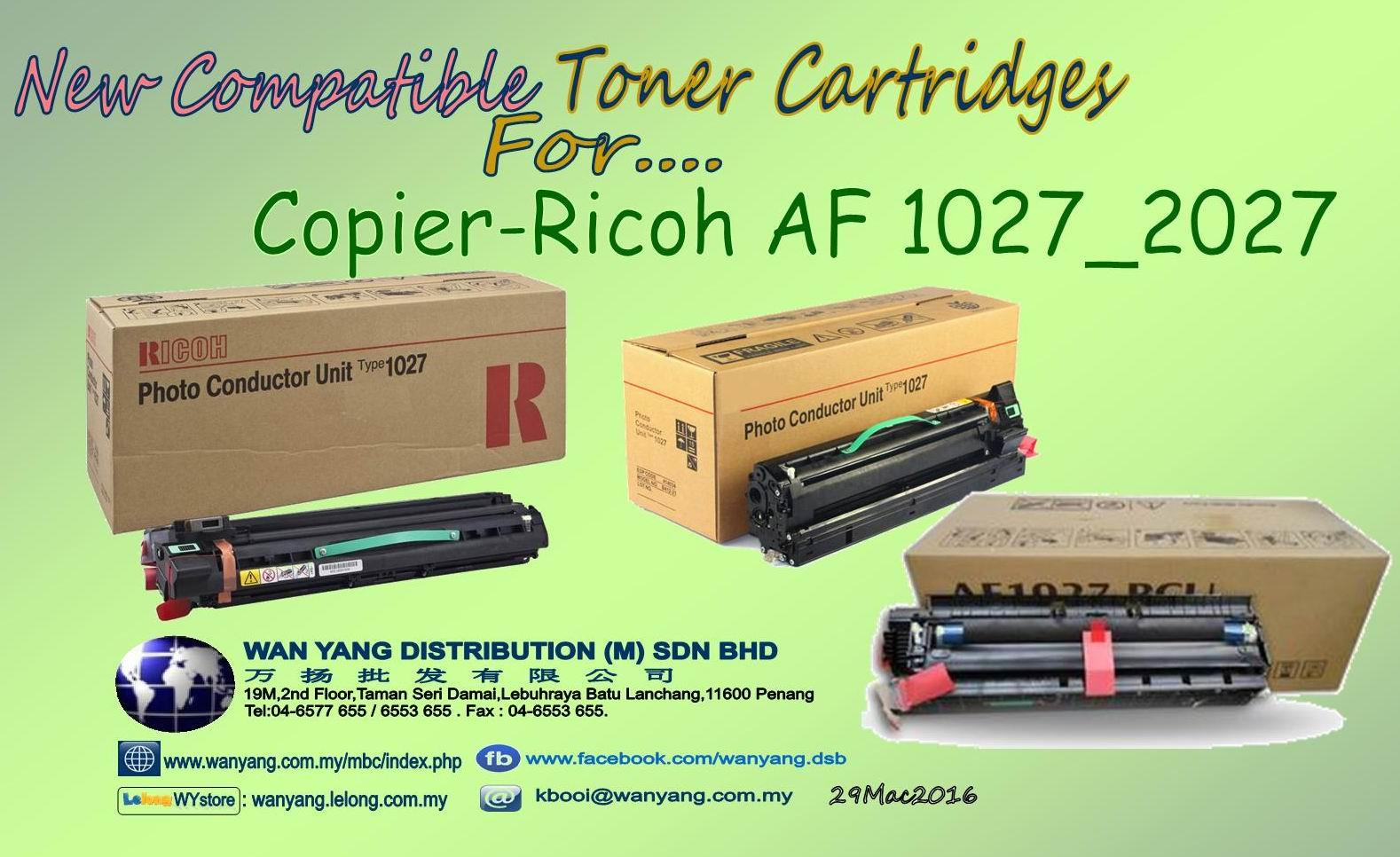 Ricoh AF 1027/2027 copier_Compatible Toner cartridges