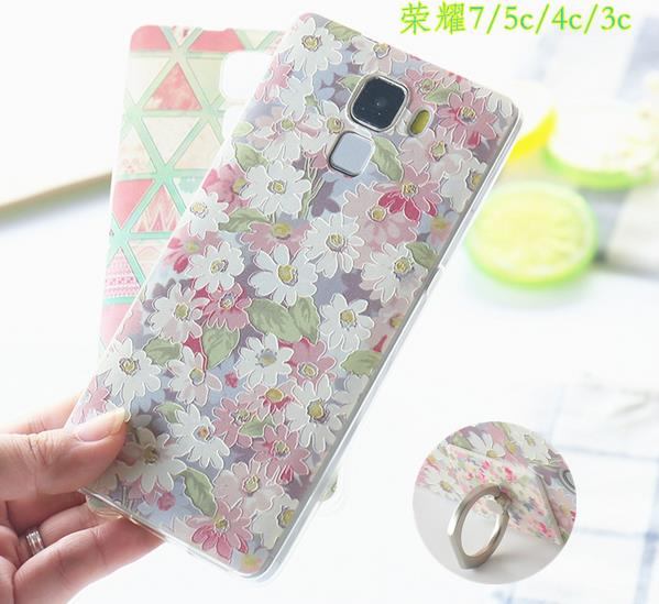 @Ring Huawei Honor 7 Honor7 4C 5C Back Case Cover Casing