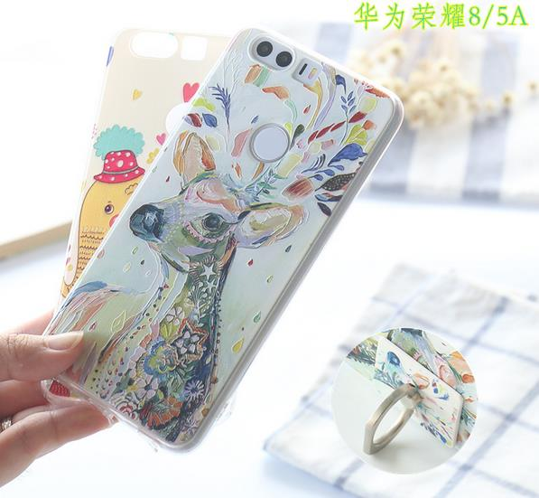 @Ring Huawei Honor8 Honor 8 5A Back Casing Cover Case