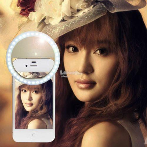 [Ring Light Battery] selfie portable flash android iphone clip