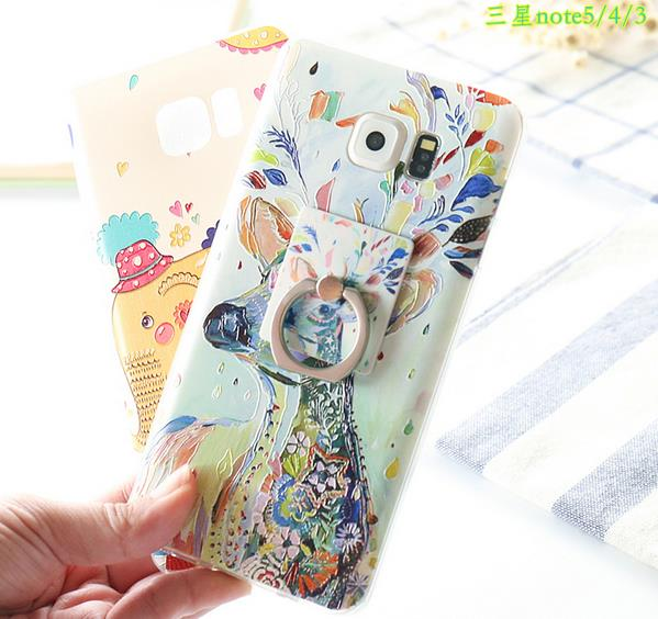 @Ring Samsung Note 3 4 5 Back Casing Cover Case