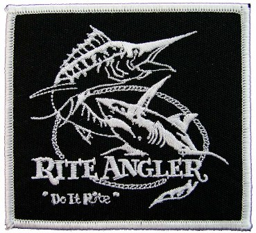 RITE ANGLER FISHING SPORTS EMBROIDERED PATCH #2