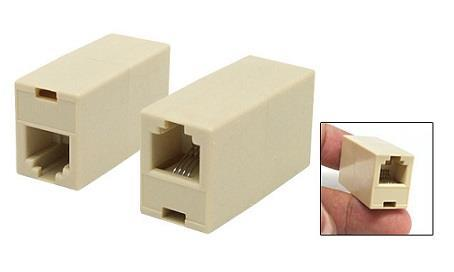 RJ11 Coupler / RJ-11 Telephone Line Adapter (2pcs Per Pack)