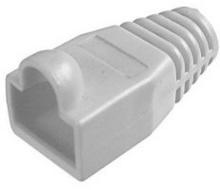 RJ45 NETWORK CONNECTOR COVER PVC RUBBER BOOTS (100PCS) GREY