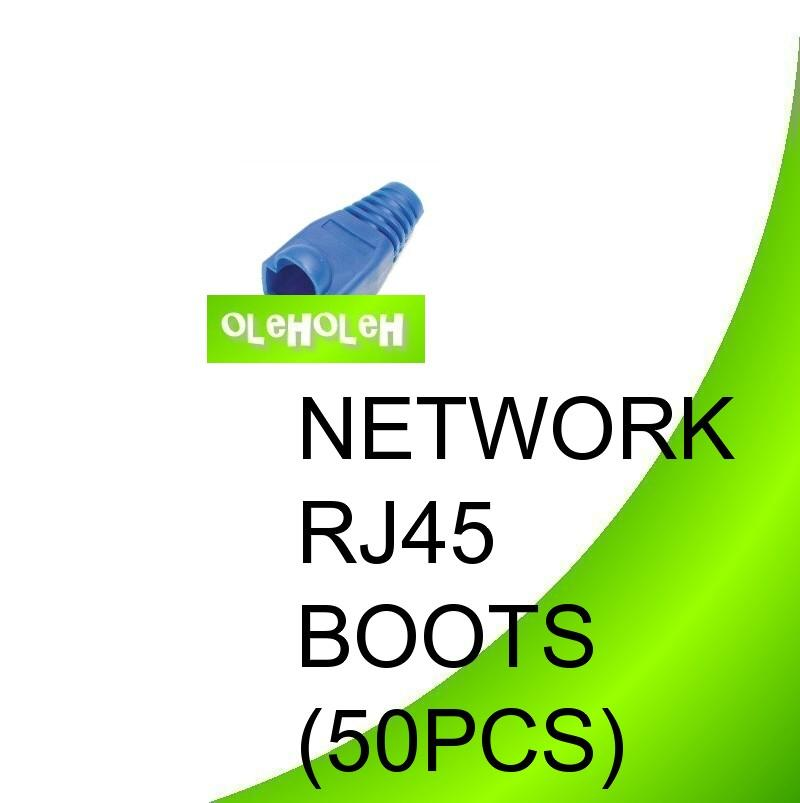 RJ45 Rubber Boot For Cat.5e Cat6 50pcs