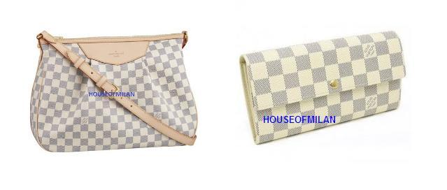 ONLY RM950 >>> N41112- LV Damier Azur Siracusa MM + Damier Azur Wallet