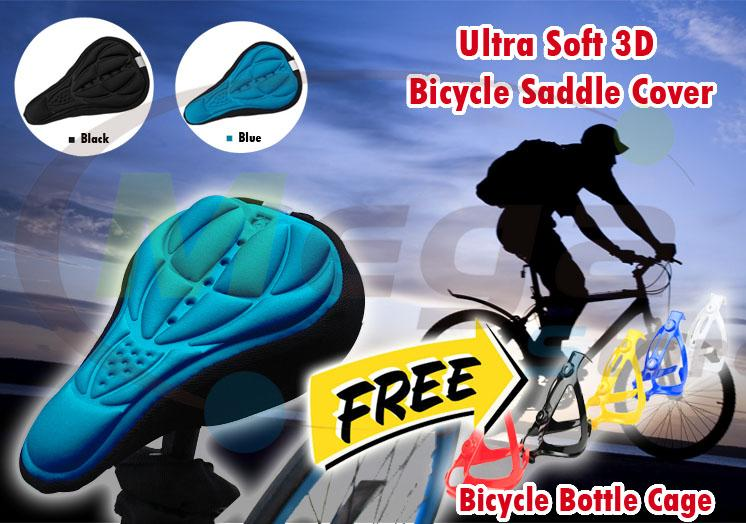 Road bike bicycle saddle ultra soft breathable cushion 3D seat cover