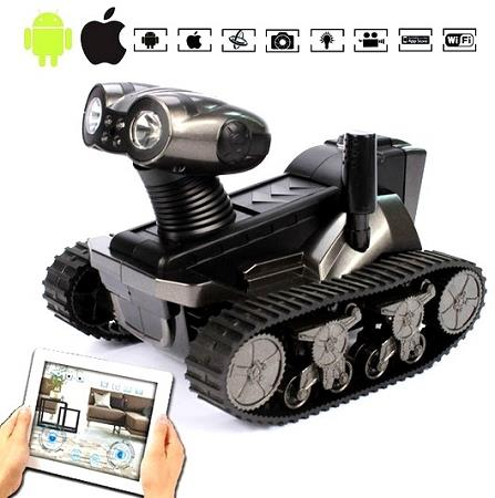 Robot Wall WIFI Tank Camera for Android and iOS (IS-02)▼