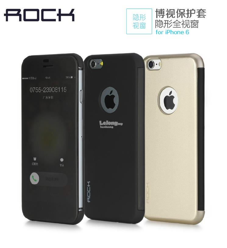 ROCK Dr. V Iphone 6 6S 6+ 6S+ 7 7+ Plus Flip Cover Leather Case