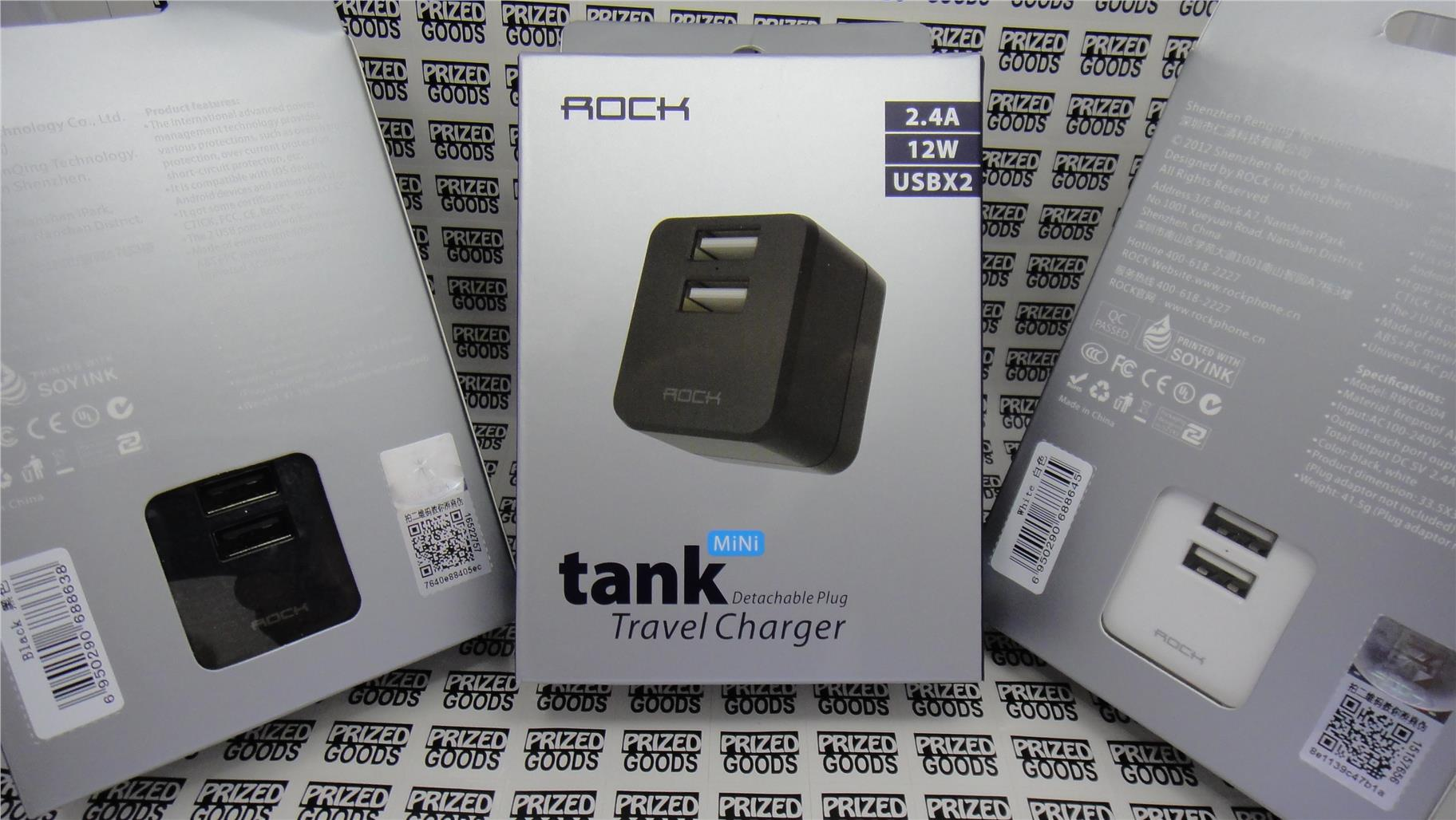 ROCK Dual USB 2.4A output Mini Traveller Charger
