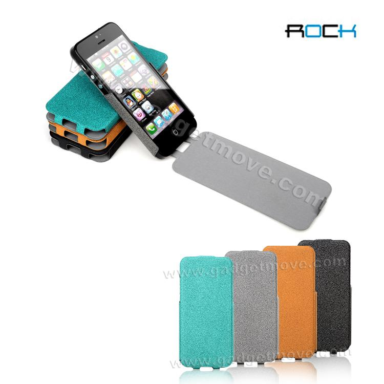 ROCK Eternal Series Flip Leather Case for iPhone 5 Leather case Cover ..