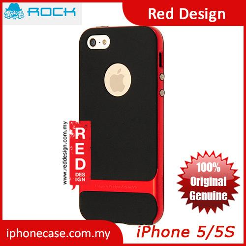 Rock Royce Series Double Layer Cover Case for iPhone 5 iPhone 5S - Red