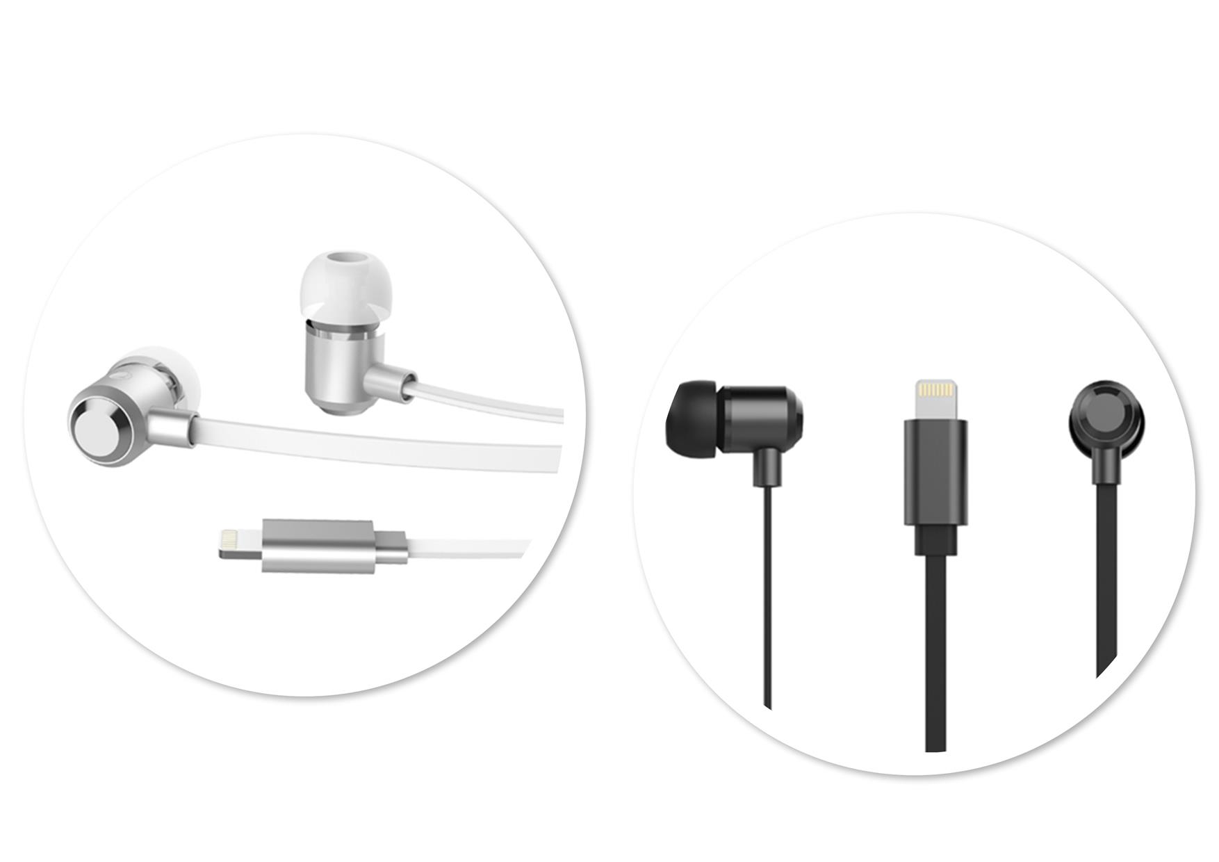Rock Y8 Lightning Stereo In-Ear Headphone for iPhone