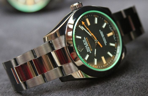 ROLEX MILGAUSS PRO HUNTER SAPPHIRE GLASS GOLD MACHINE SWISS QUALITY SI