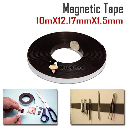 Roll N Cut Flexible Magnetic Tape 12.17mm x 1.5mm [1 Meter]