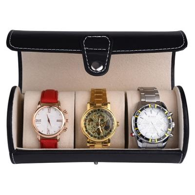 Roll Travel Watch Storage Organizer for 3 Watches and Bracelets