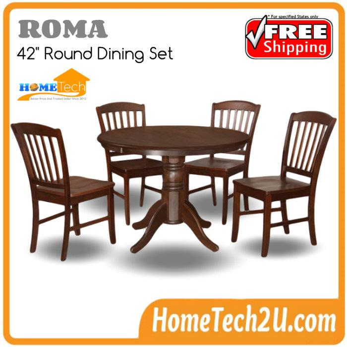 Roma 5 PC Round Dining Set Cappuccino Color Table and 4  : roma 5 pc dining set cappuccino color table 4 chairs chye9815 1412 20 chye98152 from www.11street.my size 700 x 700 jpeg 67kB