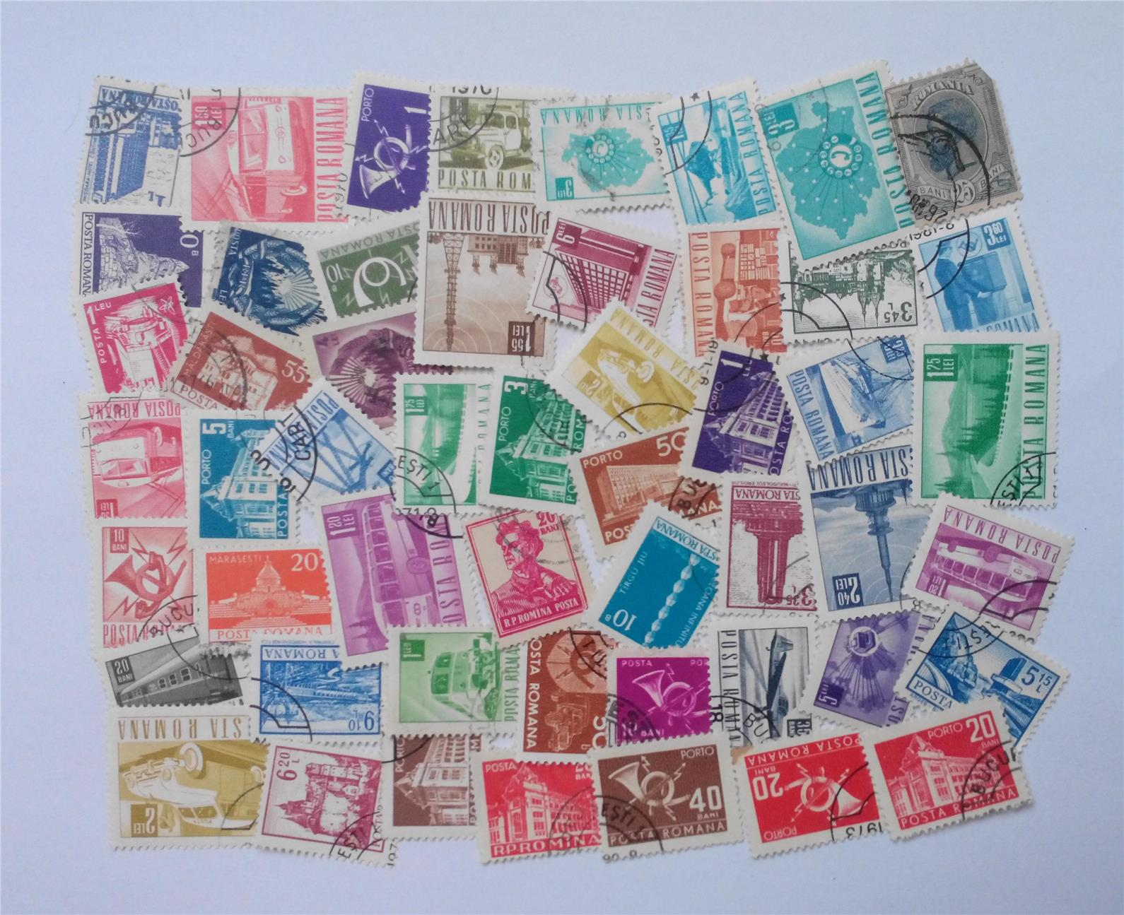 Romania stamps mix 50 pcs
