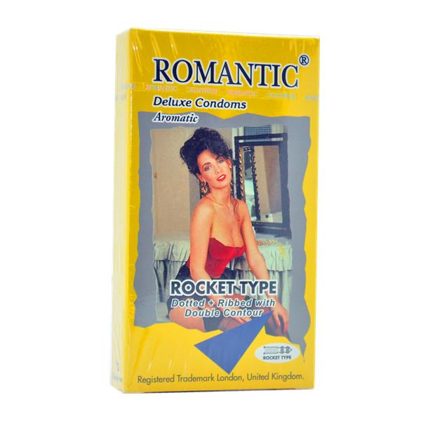 Romantic Deluxe Rocket Type Condom (Kondom) - 12's