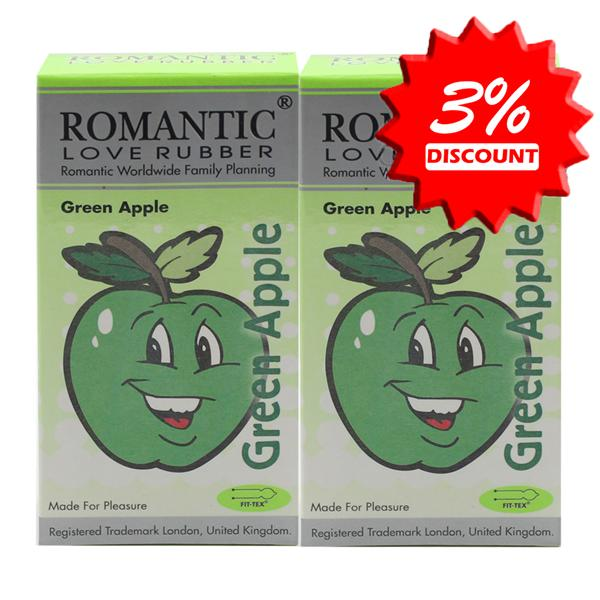Romantic Love Rubber Aroma - Green Apple Condom (Kondom) - 12's