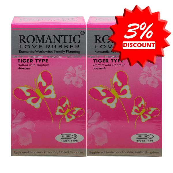 Romantic Love Rubber Tiger Type (Dotted) Condom (Kondom)- 12's