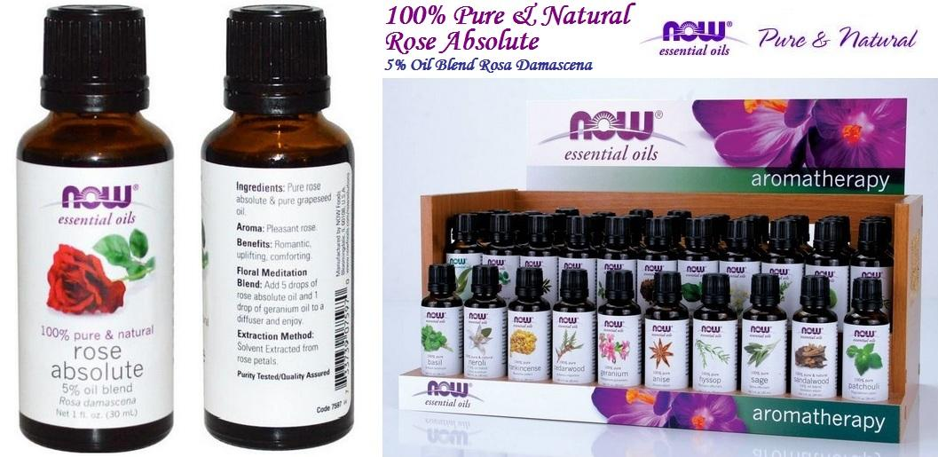 Rose Absolute Essential Oil, 100% Pure & Natural, Made in USA (30ml)