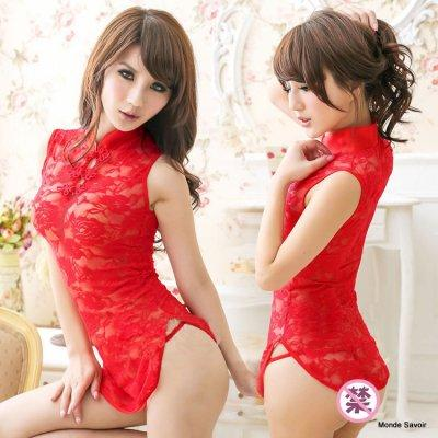 Rose lady Jacquard lace dress sexy package buttocks split