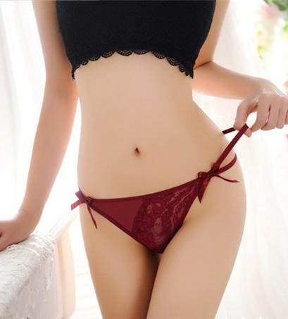 Rose Transparent Sexy Lace Underwear