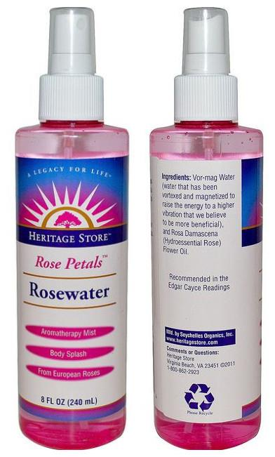 Rosewater Aroma Mist Spray, Rose Petals (240 ml)
