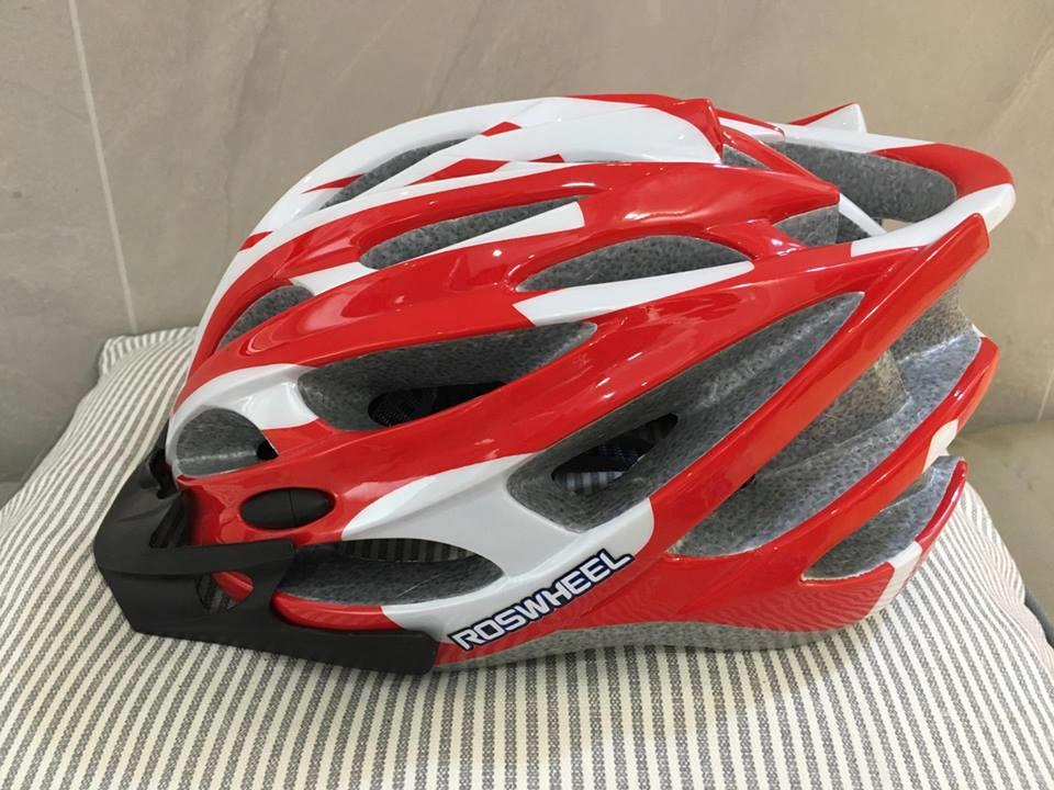ROSWHEEL BICYCLE SAFETY HELMET(RED)