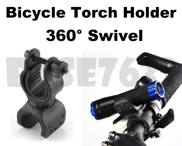 Rotatable  Bicycle Torch Light Holder Cycling Bracket Torch Clamp