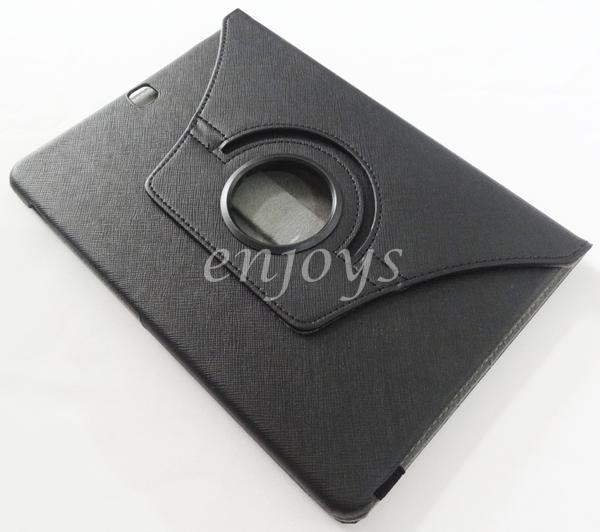 Rotate Carbon Leather Pouch Case Samsung Galaxy Tab S2 9.7 T815 ~BLACK