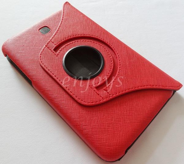 Rotate Leather Pouch Cover Samsung Galaxy Tab 3 7.0 P3200 T211 ~RED