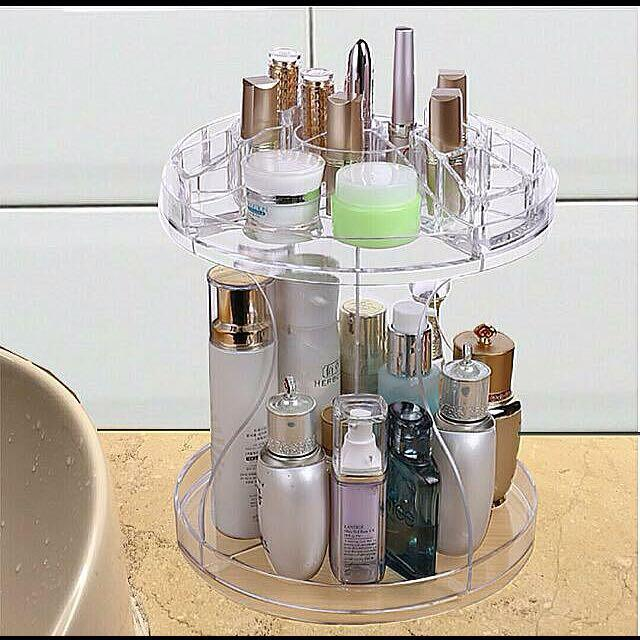 Rotate S Shape Makeup Organizer 360° Degree Acrylic