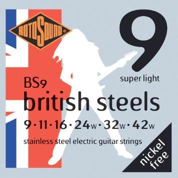 Rotosound BS9 Stainless Steel Electric Guitar Strings 09-42