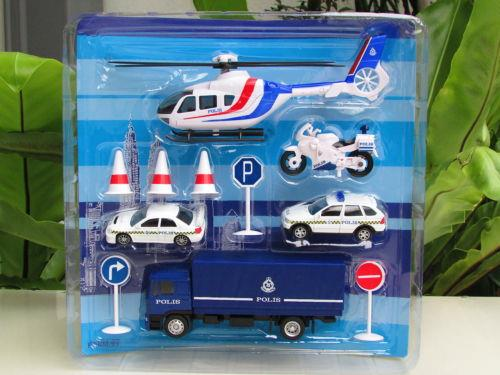 ROYAL MALAYSIA POLICE SERIES-DIECAST MODEL POLICE PLAYSET PDRM#99